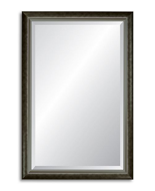 Reveal Frame & Decor Reveal Modern Smoked Silver Beveled Wall Mirror