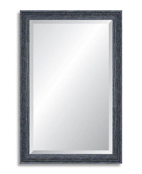 Reveal Frame & Decor Reveal Peppercorn Black Beveled Wall Mirror