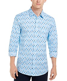 Men's Circle Print Shirt, Created For Macy's