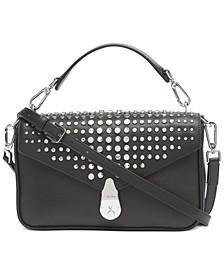 Leather Lock Shoulder Bag