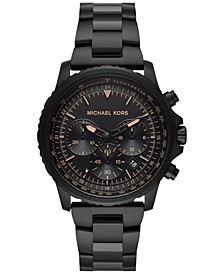 Men's Chronograph Cortlandt Black Ion-Plated Stainless Steel Bracelet Watch 42mm