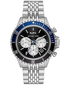 Men's Chronograph Bayville Stainless Steel Bracelet Watch 44mm