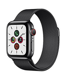 Apple Watch Series 5 GPS + Cellular, 40mm Space Black Stainless Steel Case with Space Black Milanese Loop