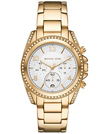 Women's Chronograph Blair Gold-Tone Stainless Steel Bracelet Watch 39mm