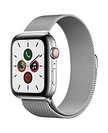 GPS + Cellular, 44mm Stainless Steel Case with Stainless Steel Milanese Loop