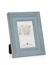 "Light Blue Wood Frame - 4"" x 6"""