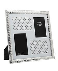 Silver Collage Diagonal Line Frame