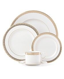 Lenox Lace Couture Gold 5 Piece Place Setting