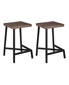 Grey Counter Height Stools (Set of 2), Quick Ship
