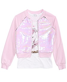 Big Girls 2-Pc. Flip Sequin Jacket & Tank Top Set