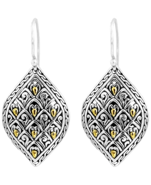 Dragon Skin Signature Drop Earrings in Sterling Silver and 18k Yellow Gold Accents