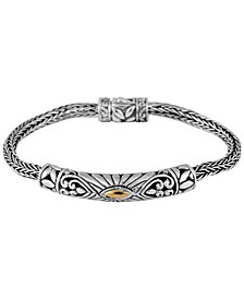 Bali Heritage Classic Bracelet in Sterling Silver and 18k Yellow Gold Accents