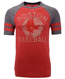 Men's Boston Red Sox Coop Stripes Earned Raglan T-Shirt