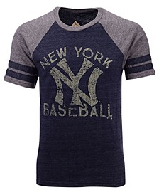 Men's New York Yankees Coop Stripes Earned Raglan T-Shirt