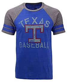 Men's Texas Rangers Coop Stripes Earned Raglan T-Shirt