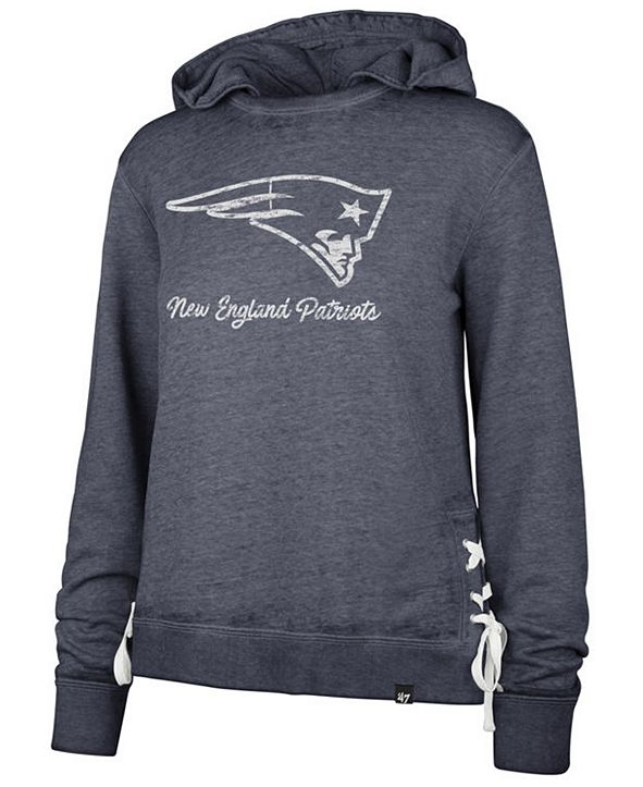 '47 Brand Women's New England Patriots Lace Up Hoodie