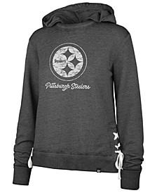 Women's Pittsburgh Steelers Lace Up Hoodie
