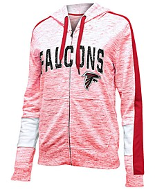 Women's Atlanta Falcons Space Dye Full-Zip Hoodie