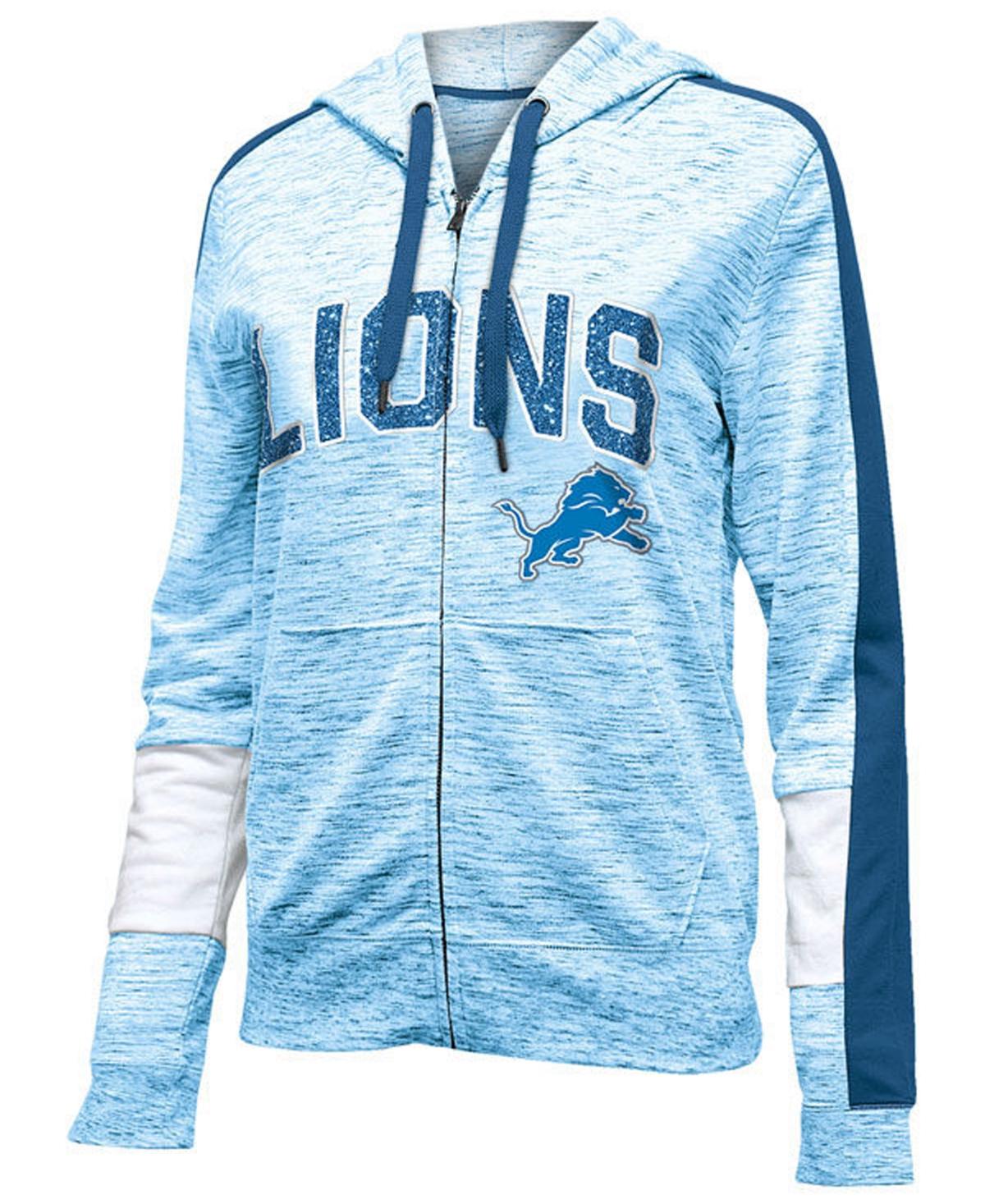 5th & Ocean Womens Detroit Lions Space Dye Full-Zip Hoodie