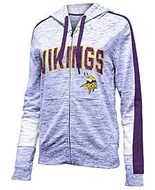 Women's Minnesota Vikings Space Dye Full-Zip Hoodie