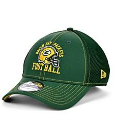 Green Bay Packers Vintage Helmet Neo 39THIRTY Cap