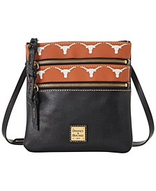 Texas Longhorns Saffiano Triple Zip Crossbody