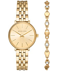 Women's Mini Pyper Gold-Tone Stainless Steel Bracelet Watch 32mm Gift Set