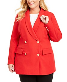 INC Plus Size Double-Breasted Blazer, Created For Macy's