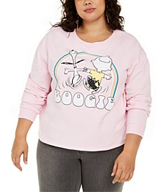 Trendy Plus Size Snoopy Boogie Graphic-Print Sweatshirt
