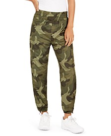 Juniors' Camo-Print Jogger Pants