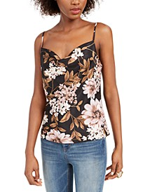 Printed Cowlneck Tank Top