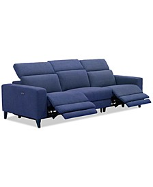 Sleannah 3-Pc. Fabric Sofa with 2 Power Recliners