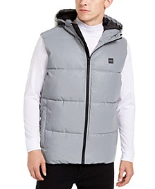 Men's Reflective Hooded Puffer Vest
