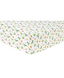 Dinosaur Palm Flannel Crib Sheet