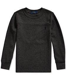 Little Boys Waffle Knit Sweatshirt