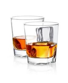 Carina Old Fashioned Whiskey Glasses Set of 2