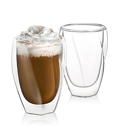 Lacey Double Wall Coffee Glasses Set of 2