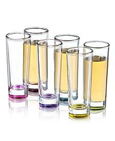 Hue Colored Shot Glasses Set of 6