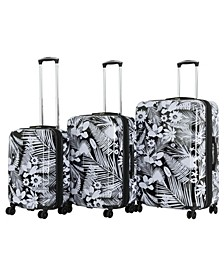 Triforce Tropical 3-Piece Spinner Luggage Set