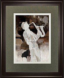 "Jazz Sax by Mark Chandon Framed Print Wall Art, 34"" x 40"""