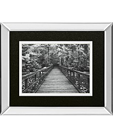 "A Walk Into Tranquility by Mike Jone Mirror Framed Print Wall Art, 34"" x 40"""