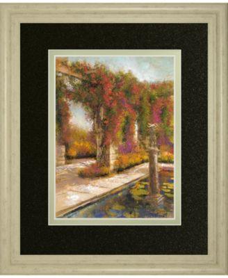 "English Garden I by Patrick Framed Print Wall Art, 34"" x 40"""