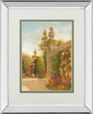 "English Garden II by Patrick Mirror Framed Print Wall Art, 34"" x 40"""
