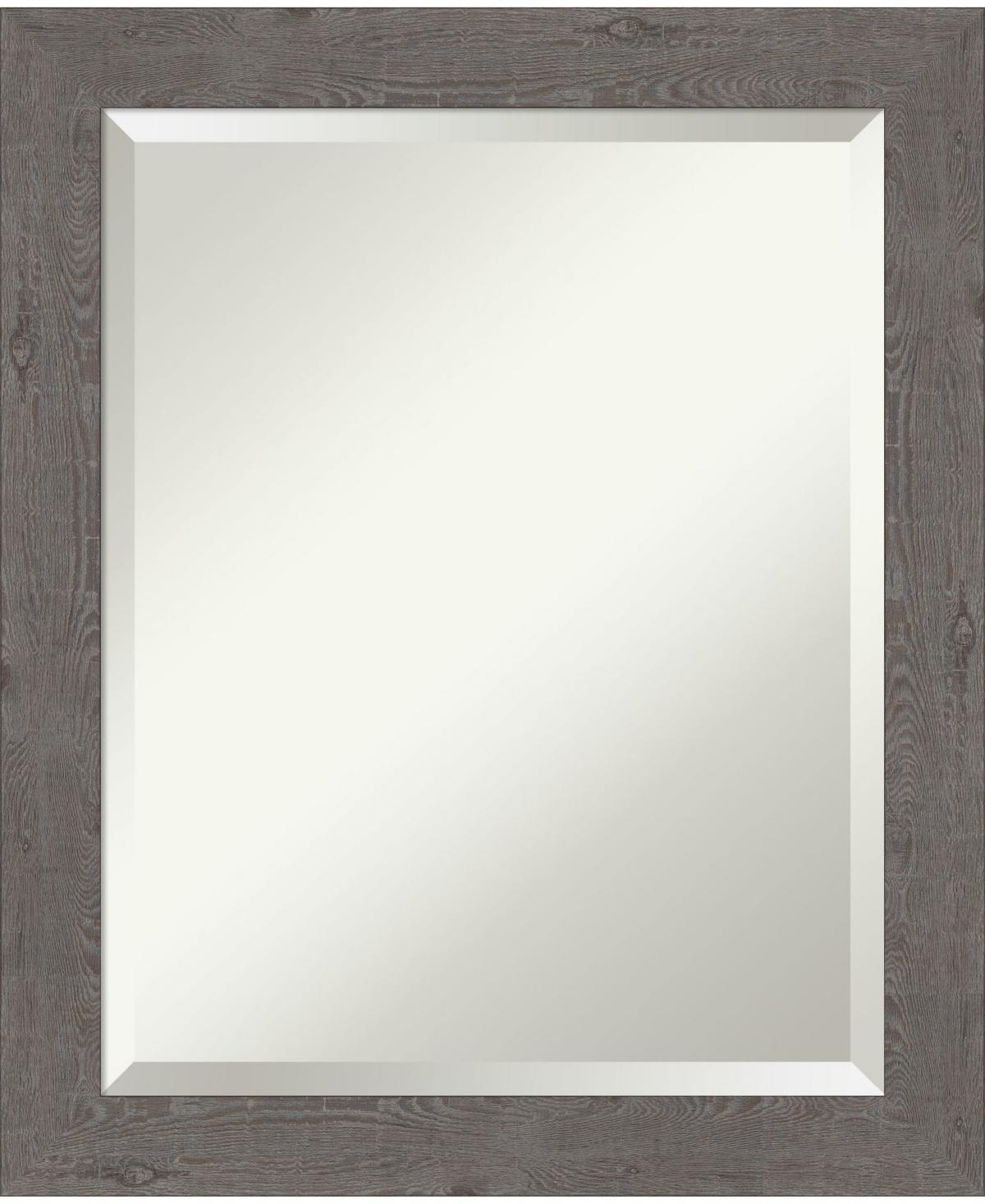 Amanti Art Rustic Plank Framed Bathroom Vanity Wall Mirror, 19.25