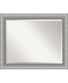 "Elegant Brushed Framed Bathroom Vanity Wall Mirror, 32.75"" x 26.75"""