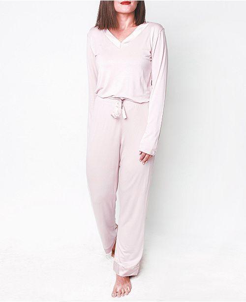 MOOD Pajamas Cozy Mood Ultra Soft Long- Sleeve Pajama Set