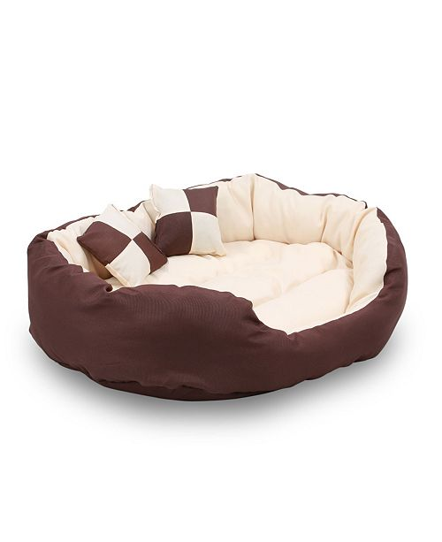 Durable Bolster Sleeper Oval Pet Bed
