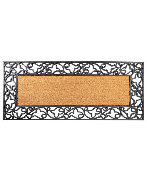 "Envelor Floral Rubber Coir Insert Welcome Doormat, 24"" x 57"""