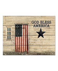 "God Bless American Flag 16"" x 20"" Wood Pallet Wall Art"