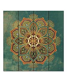 "Boho Medallion I 12"" x 12"" Wood Pallet Wall Art"